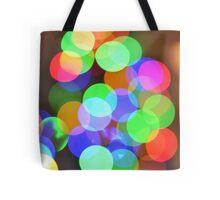 Christmas tree bokeh Tote Bag