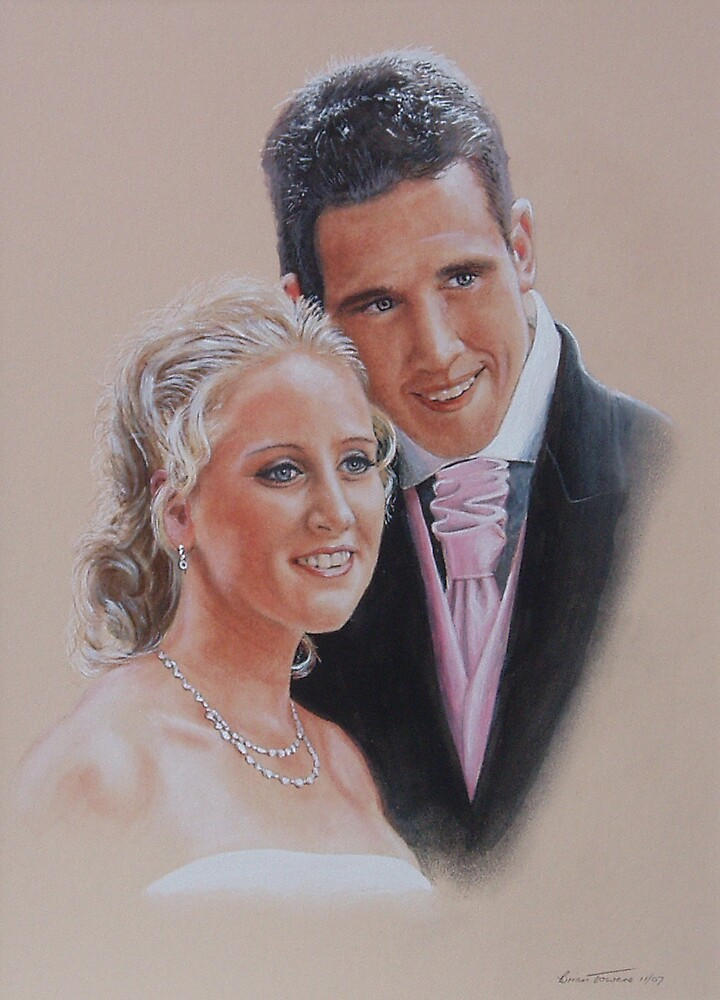 Wedding belle and groom. by Brian Towers