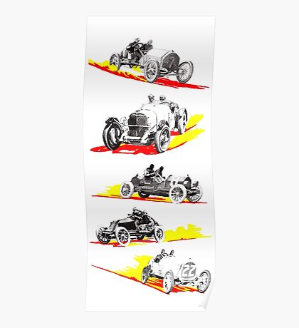 Classic Race Cars Poster