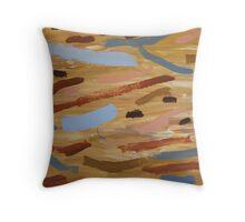 Brown Water 1 Throw Pillow