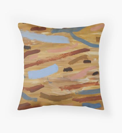 Brown Water 1 Throw Pillow