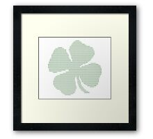 Ascii Art Shamrock Four Leaf Clover Framed Print