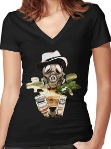 8TH Women's Fitted V-Neck T-Shirt