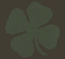 Ascii Art Shamrock Four Leaf Clover by TheShirtYurt