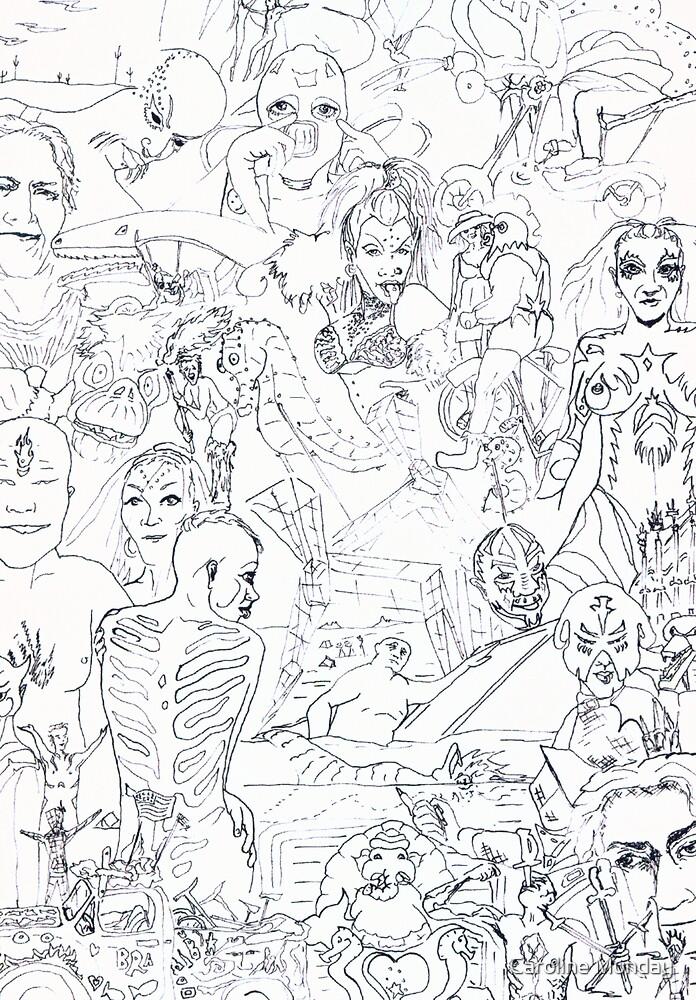 Tribute to Burnin Man N Other Weirdness by Caroline Munday