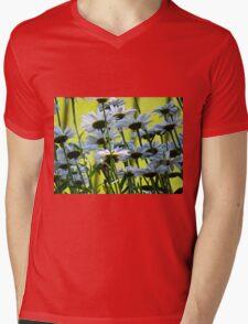 End of Summer, White Daisies II  (1407070407VA) Mens V-Neck T-Shirt
