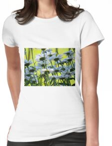 End of Summer, White Daisies II  (1407070407VA) Womens Fitted T-Shirt