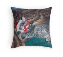 Out cold for the Holidays Throw Pillow