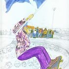 Div At Livingston Skatepark by Caroline Munday