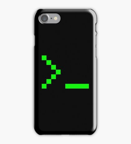 Old School Computer Text Input Prompt iPhone Case/Skin