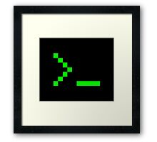 Old School Computer Text Input Prompt Framed Print