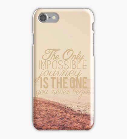 The Only Impossible Journey iPhone Case/Skin