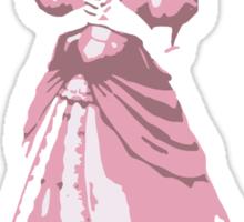 Minimalist Princess Peach from Super Smash Bros. Brawl Sticker