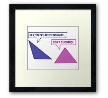 Acute Triangle Obtuse Angle Framed Print