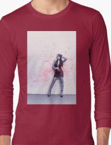 splatter on white wall Long Sleeve T-Shirt