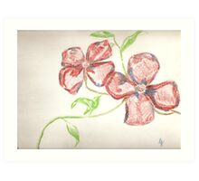 american blossoms of greg Art Print