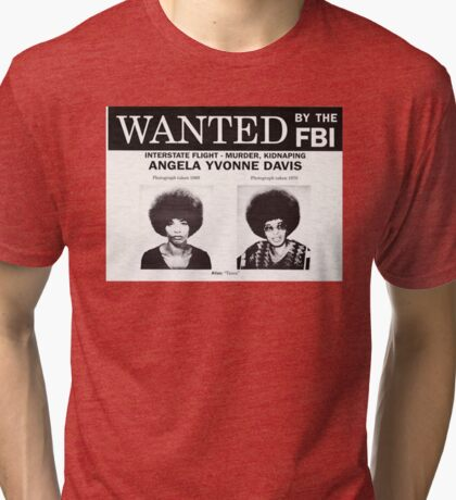 Angela Davis Wanted Tri-blend T-Shirt