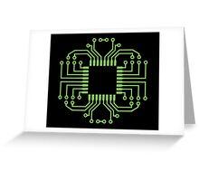 Electric Circuit Board Processor Greeting Card