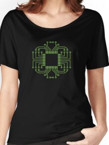 Electric Circuit Board Processor Women's Relaxed Fit T-Shirt