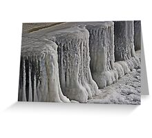 Icy Pier Greeting Card