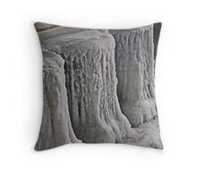 Icy Pier Throw Pillow