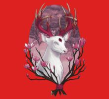 White Stag with Magnolias Baby Tee