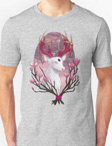 White Stag with Magnolias T-Shirt