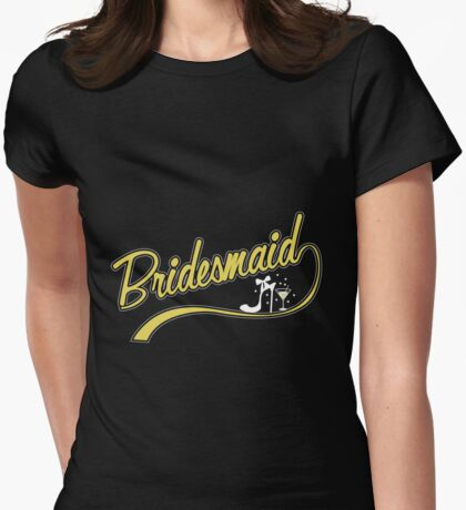 Bridesmaide-Funny Bride Shirt,Bridal Party Shirts SET OF 7,Bride to Be, Bride, Bridesmaid, Party Custom Shirts, Bride Shirt,Bachelorette Party Shirts, Bridal Party Tops Womens Fitted T-Shirt
