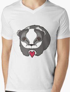 Badger in Love Mens V-Neck T-Shirt