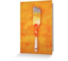 Paint brush Greeting Card