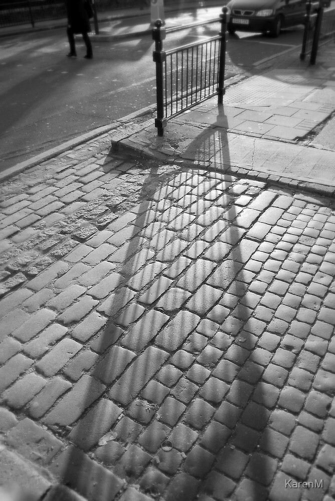 Shadow on Cobbles  by KarenM