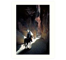 Petra Horseman Art Print