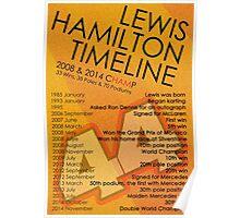 Lewis Hamilton - Timeline Poster Poster