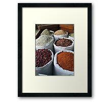 Spice souk Dubai Framed Print
