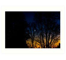 moonlit sunset Art Print