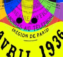April in Paris 1936 Sticker