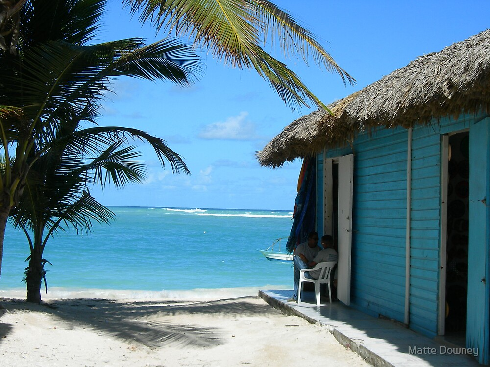 Blue beach shack by Matte Downey