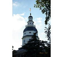 Annapolis State House Photographic Print