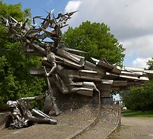 Monument to the Defenders of the Polish Post Office by Ren Provo