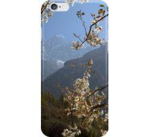 View of the Kusum Kangru (Three Snow-White Gods) 6367 from Benkar iPhone Case/Skin