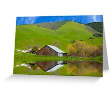 Old Barn, Jallama, CA. Greeting Card