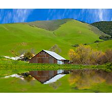 Old Barn, Jallama, CA. Photographic Print