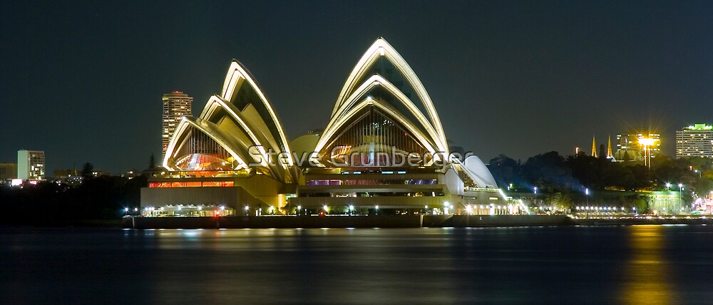 Sydney Opera House at Night by Steve Grunberger