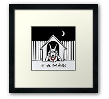 In The Dog House Red Edition Framed Print