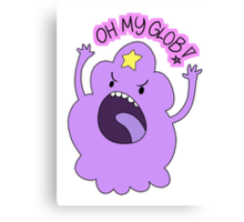 "Adventure Time - Lumpy Space Princess ""Oh My Glob!"" Canvas Print"