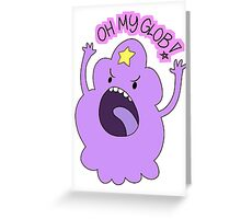 "Adventure Time - Lumpy Space Princess ""Oh My Glob!"" Greeting Card"
