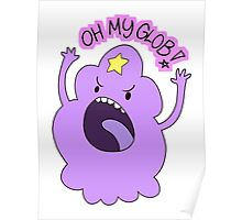 "Adventure Time - Lumpy Space Princess ""Oh My Glob!"" Poster"