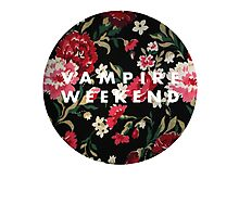Vampire Weekend Floral Photographic Print