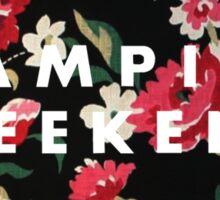 Vampire Weekend Floral Sticker