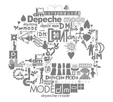 Depeche Mode : DM Logo 2013 - With old logo 2 - Grey by Luc Lambert